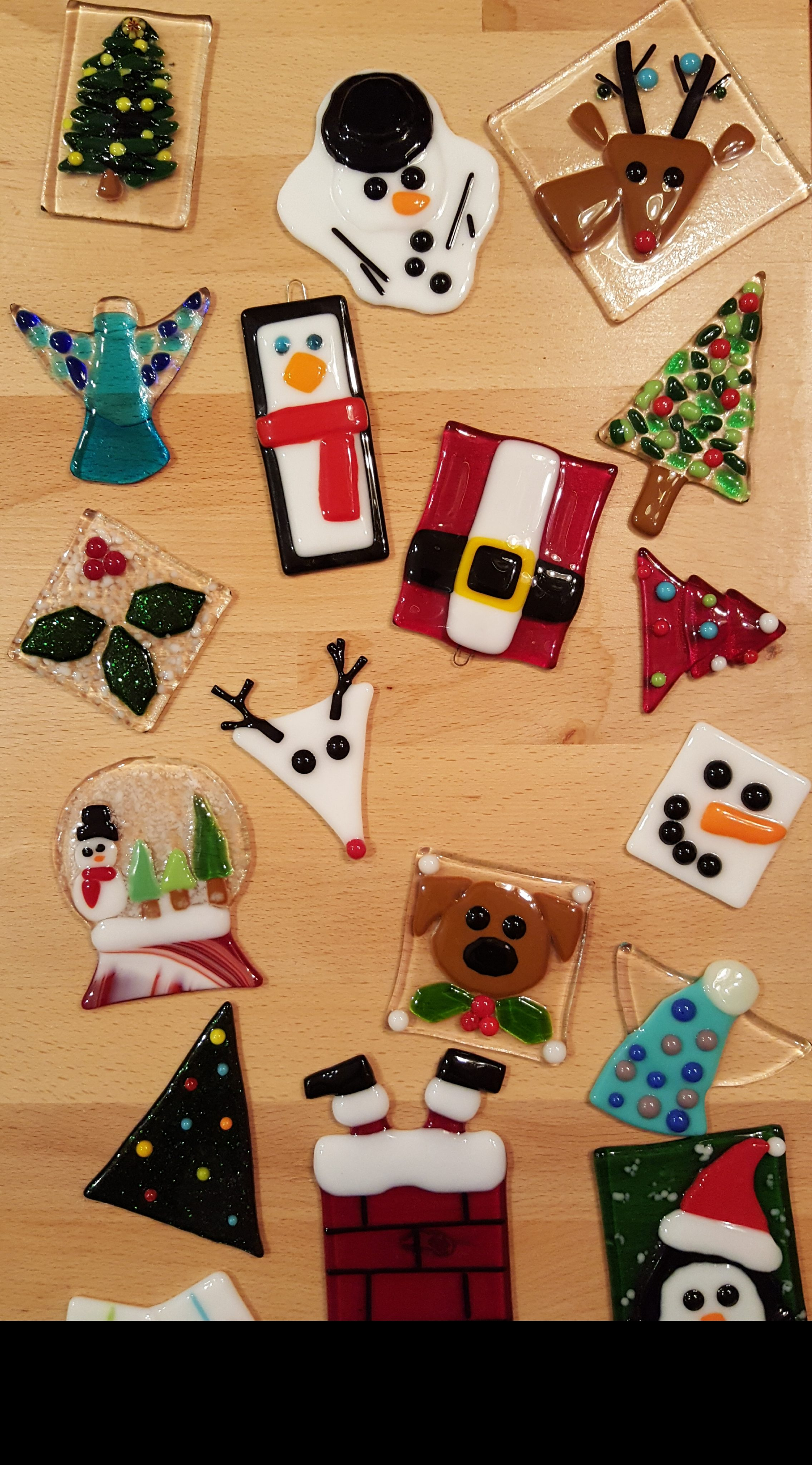 Glass Fusing - Christmas Ornaments | Pottery Factory ...