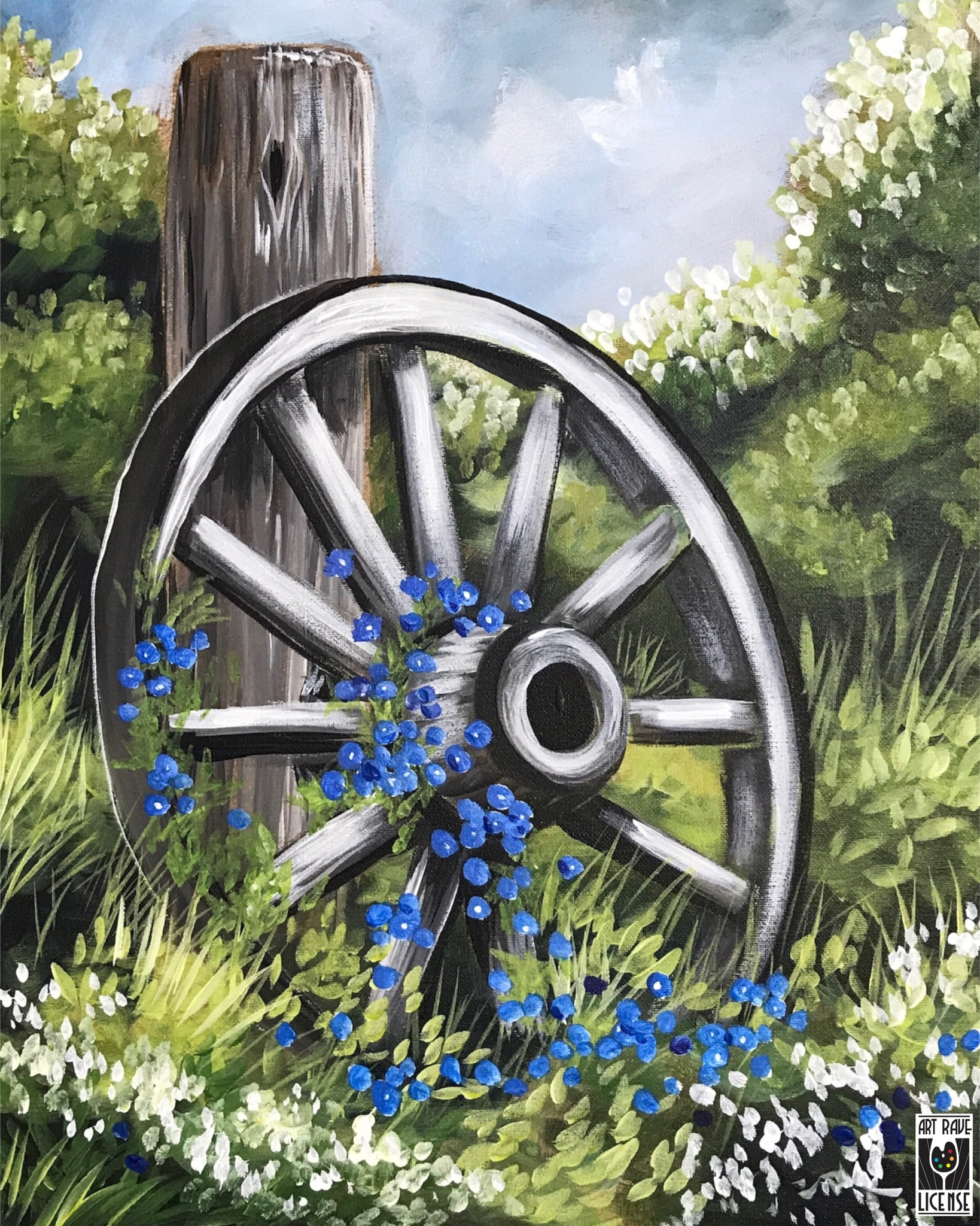 Paint and Sip – Forget Me Not