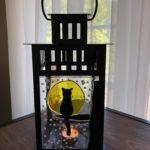Halloween Glass Fused Lantern
