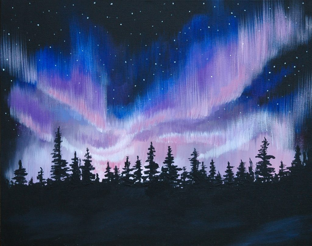 Paint and Sip – Northern Lights