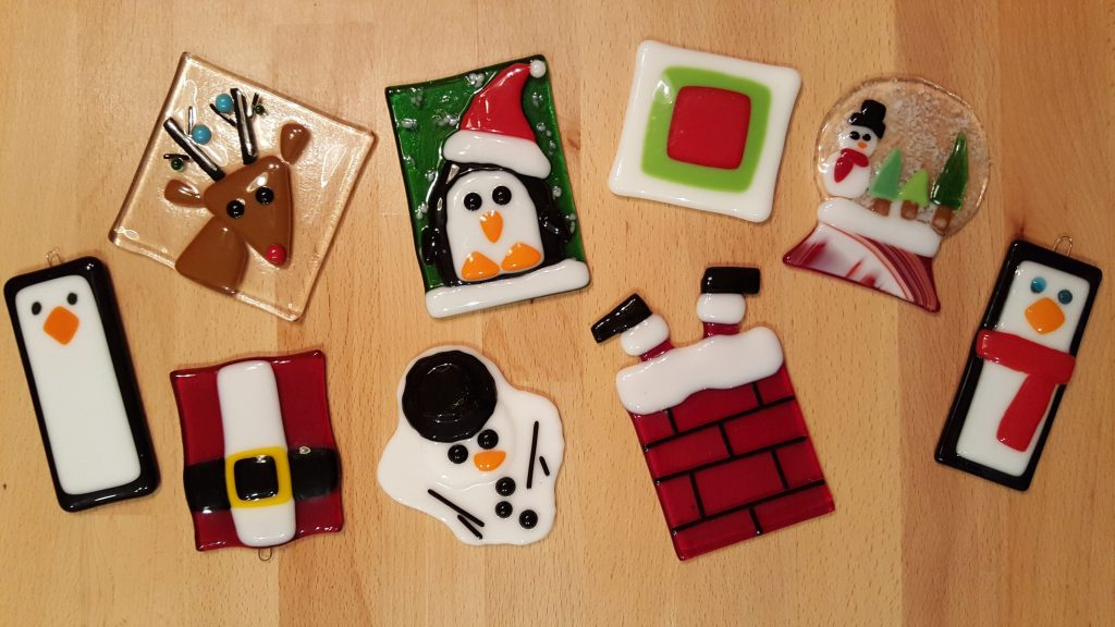 Glass Fusing Christmas Ornaments Pottery Factory Brookfield