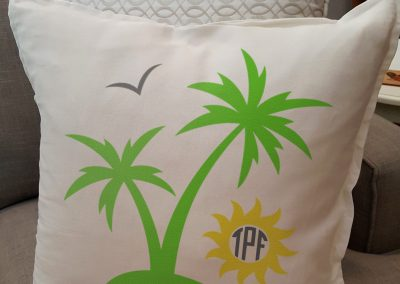Palmtree with sun Intials