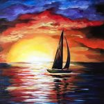 Virtual Paint and Sip – Sunset Sail