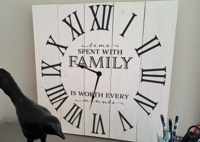 Time Spend With Family Clock