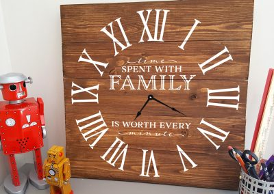 Time Spend with Family Roman Clock