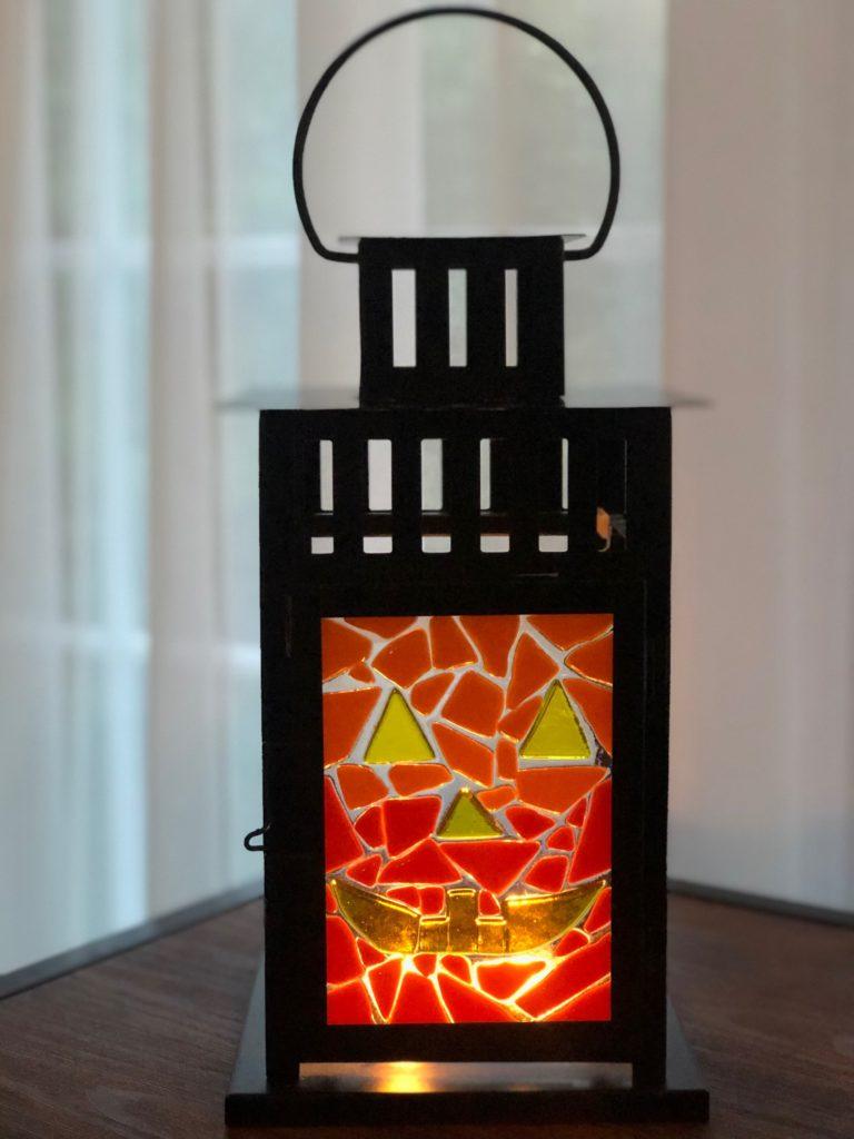 Halloween Glass Fused Lantern Pottery Factory Brookfield