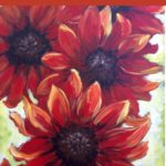 Virtual Paint and Sip – Blazing Sunflowers