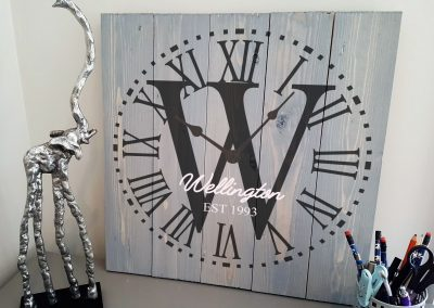Family Monogram Clock