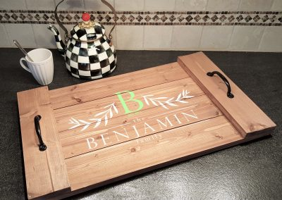 Family Name Olive Branch Tray