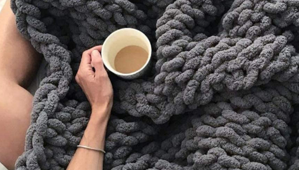 Big Chunky Blankets at Home